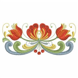Norwegian Rosemaling embroidery design