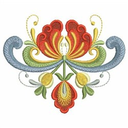 Rosemaling Blooms embroidery design