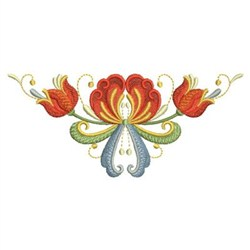 Floral Triangle embroidery design