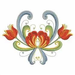 Norwegian Floral embroidery design