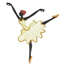 Dancing Ballerina Silhouette embroidery design