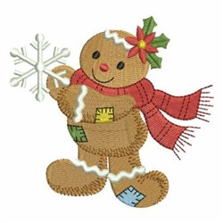 Patchwork Gingerbread Man embroidery design