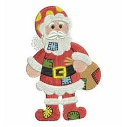Patchwork Santa Claus embroidery design