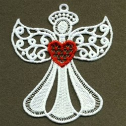 FSL Angel with Heart embroidery design