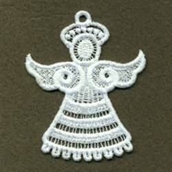 FSL White Angel embroidery design