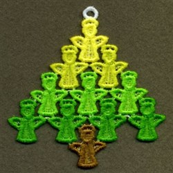 FSL Angel Tree embroidery design