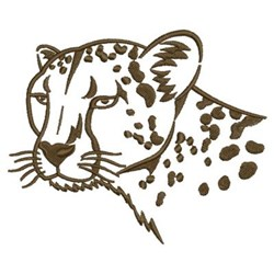 Cougar Silhouette embroidery design