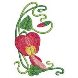 Art Nouveau Australian Wildflowers embroidery design