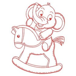 Redwork Elephant & Horse embroidery design