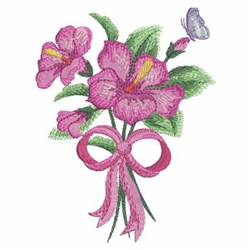 Watercolor Hibiscuses & Butterfly embroidery design