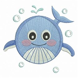 Ocean Geometry Whale embroidery design
