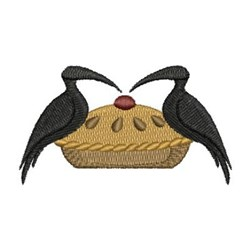 Country Crows & Pie embroidery design