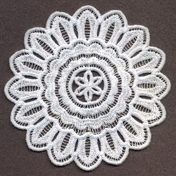 FSL Floral Doily Ornament embroidery design