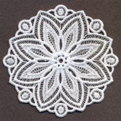 FSL Floral Circles Doily embroidery design