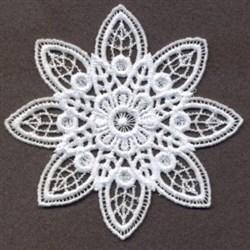 FSL Delicate Floral Doily embroidery design