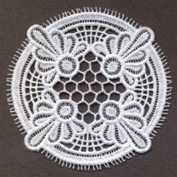 FSL Delicate Doily Coaster embroidery design