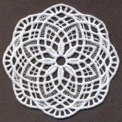 FSL Floral Doily Coaster embroidery design