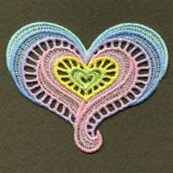 FSL Neon Swirl Heart embroidery design