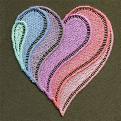 FSL Neon Rainbow Heart embroidery design