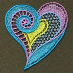 FSL Neon Curl Heart embroidery design