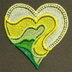FSL Neon Yellow Heart embroidery design
