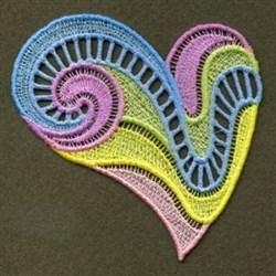 FSL Colorful Neon Heart embroidery design