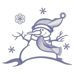Simply Snowman & Flakes embroidery design