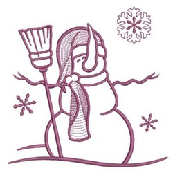 Simply Snowman & Broom embroidery design