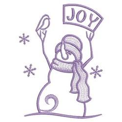 Simply Snowman Joy embroidery design