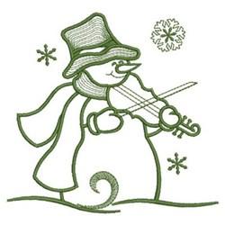 Simply Snowman & Violen embroidery design