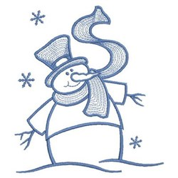 Simply Snowman embroidery design
