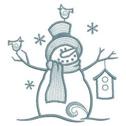 Simply Snowman & Birdhouse embroidery design