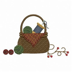 Country Sewing Basket embroidery design