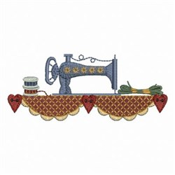 Country Sewing Machine embroidery design
