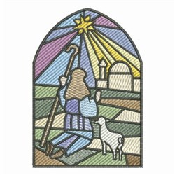 Stained Glass Nativity embroidery design