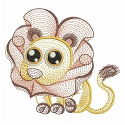 Rippled Baby Lion embroidery design