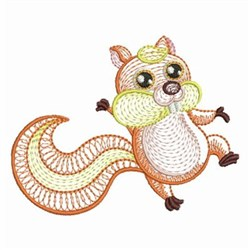 Rippled Baby Squirrel embroidery design