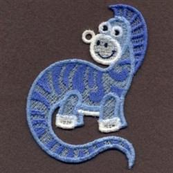 FSL Purple Baby Dinosaur embroidery design