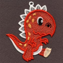 FSL Red Baby Dinosaur embroidery design