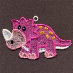 FSL Pink Baby Dinosaur embroidery design