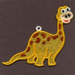 FSL Yellow Baby Dinosaur embroidery design