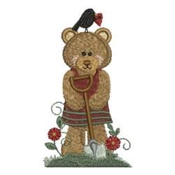 Country Bear & Shovel embroidery design
