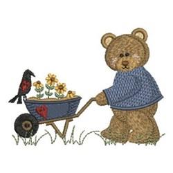 Country Bear & Wheelbarrow embroidery design