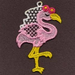 FSL Pink Flamingo embroidery design