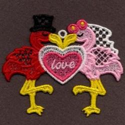 FSL Love Flamingos embroidery design