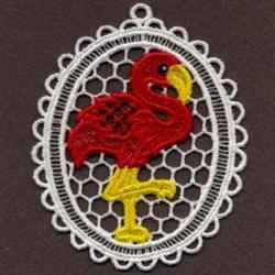 FSL Red Flamingo embroidery design