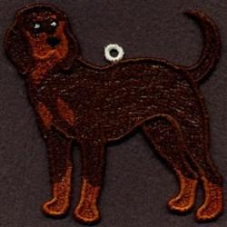 FSL Coonhound embroidery design