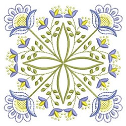 Vintage Jacobean Block embroidery design