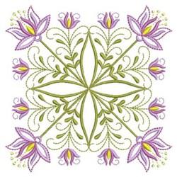 Pink Jacobean Block embroidery design
