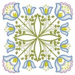 Floral Jacobean Block embroidery design